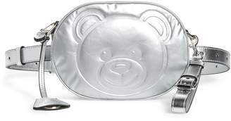 Moschino Silver Teddy Belt Bag