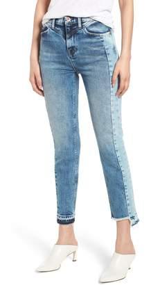 Hudson Jeans Zoeey Front Yoke High Waist Ankle Straight Leg Jeans