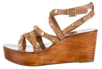 Tory Burch Leather Flatform Sandals