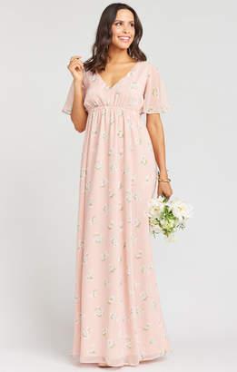 Show Me Your Mumu Emily Empire Maxi Dress ~ GWSXMUMU Blush Meadow