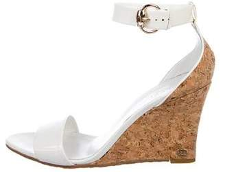 Gucci Patent Leather Ankle-Strap Wedges