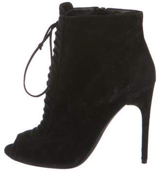 Tom Ford Peep-Toe Suede Booties