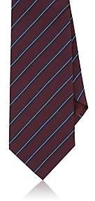 Giorgio Armani Men's Striped Silk Jacquard Necktie - Wine