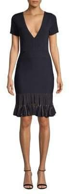 French Connection Ruffle Sheath Dress