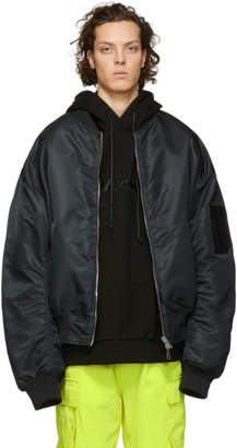 Juun.J Reversible Black Thealteredtech Bomber Jacket
