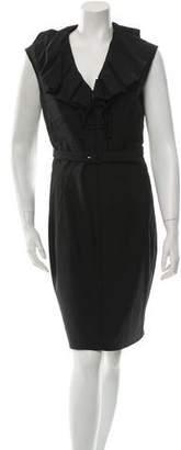 Zac Posen Wool Sleeveless Dress
