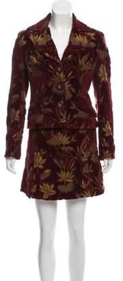 Dolce & Gabbana Velour Floral Suit multicolor Velour Floral Suit