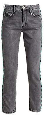 Alanui Women's Tubular Beads Skinny Jeans