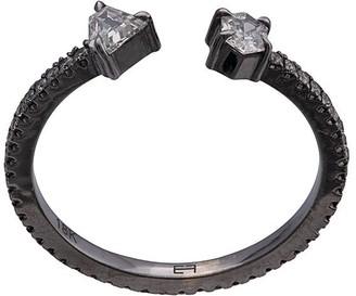Eva Fehren 18kt white gold Off-Set Two Stone diamond rings