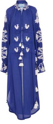 Yuliya Magdych Cotton Chestnut Dress
