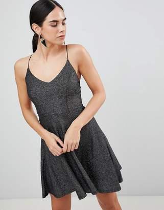 AX Paris Metallic Skater Mini Dress