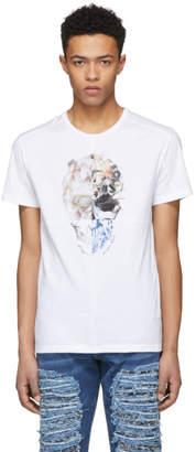 Alexander McQueen White Split Skull T-Shirt