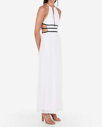 04d1ab1752 Express Strappy Side Plunge Cut-Out Maxi Dress