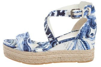 Ralph Lauren Collection Espadrille Wedge Sandals