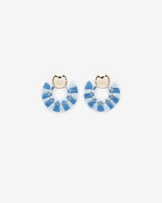 Express Tassel Hoop Earrings