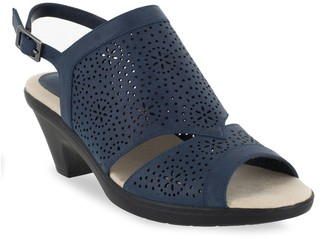 8b4c08d1893b Easy Street Shoes Blue Slingback Women s Sandals - ShopStyle