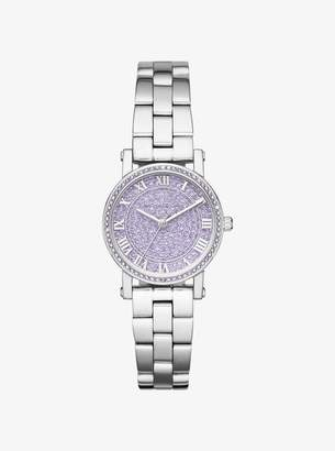 Michael Kors Petite Norie Pave Silver-Tone Watch