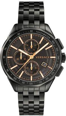 Versace Men's 44mm Glaze Chronograph Watch w/ Bracelet Strap, Black