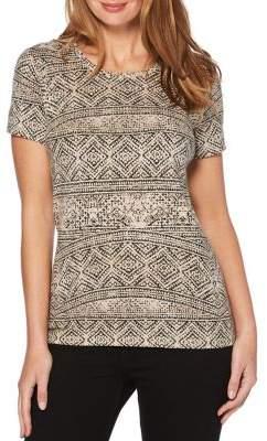 Rafaella Printed Short Sleeve Top