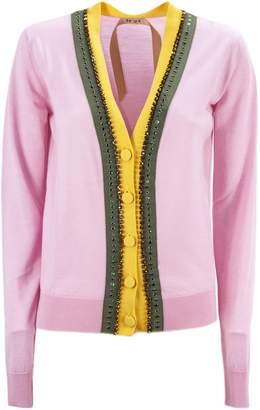 N°21 N.21 Pink Virgin Wool Cardigan