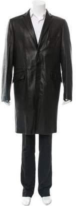 Dolce & Gabbana Leather Tailored Coat