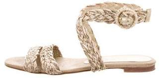 Stella McCartney Raffia Flat Sandals