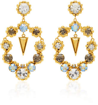 Nicole Romano Palmer 18K Gold-Plated Crystal Earrings