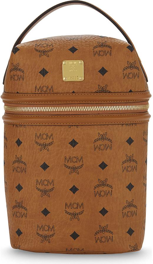 MCMMCM Logo leather backpack