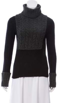 Tory Burch Cable Knit Turtleneck Sweater