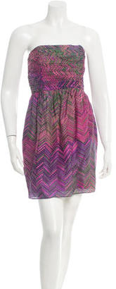 Shoshanna Silk Printed Dress w/ Tags $110 thestylecure.com