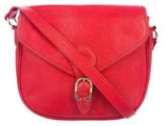 Longchamp Leather Saddle Crossbody Bag gold Leather Saddle Crossbody Bag