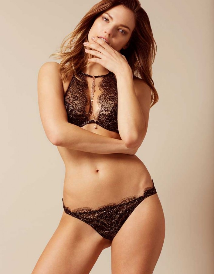 Agent ProvocateurGayle Brief Black And Gold