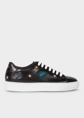 Paul Smith Women's Black Leather 'Dreamer' Embroidered 'Basso' Trainers