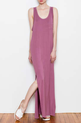 Double Zero Side Slit Maxi Dress