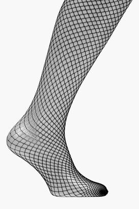 boohoo Diana Black Fishnet Tights