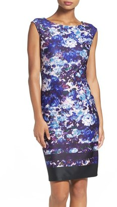 Women's Adrianna Papell Scuba Sheath Dress $130 thestylecure.com