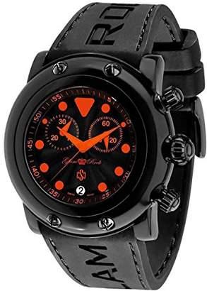 Glam Rock Women's GR61114-ORGS Miami Beach Chronograph Black Textured Dial Black Silicone Watch