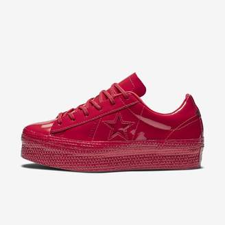 Converse Womens Shoe One Star Platform Patented 90s Leather Low Top