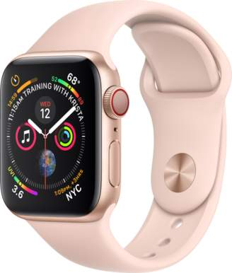Apple AppleWatch Series4 GPS+Cellular, 40mm Gold Aluminum Case with Pink Sand Sport Band