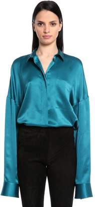 Haider Ackermann Oversized Silk Satin Shirt