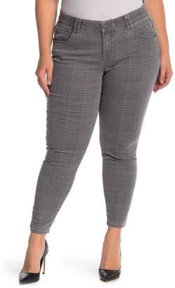 Democracy Tummy Control Plaid Print Skinny Pants (Plus Size)