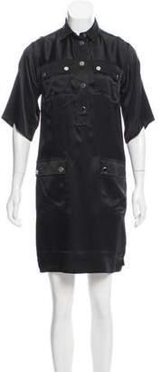 Dolce & Gabbana Short Sleeve Satin Dress