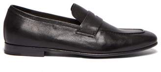 Dunhill Engine Turn Penny Loafers - Mens - Black
