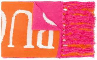 Emilio Pucci branded fringed scarf