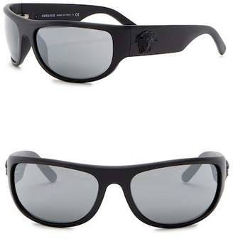 Versace Rock Icons 63mm Rectangle Sunglasses