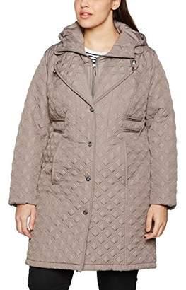Ulla Popken Women's Steppmantel Mit Revers Coat,16