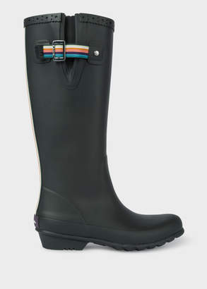 Paul Smith Women's Black Rubber 'Idella' Wellington Boots