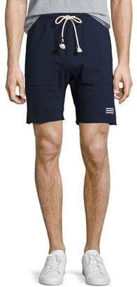 Sol Angeles Waves Cutoff Sweat Shorts, Indigo $110 thestylecure.com