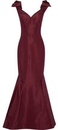 Gathered Silk Duchesse Satin Gown