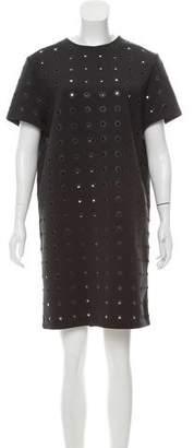 Balenciaga Laser-Cut Mini Dress